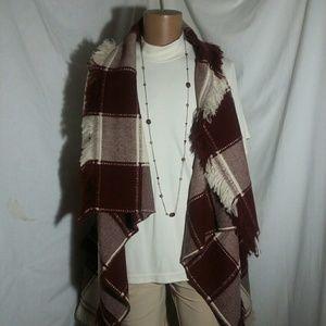 Blanket Vest Sunshine & Rodeos w/Fringe M/L